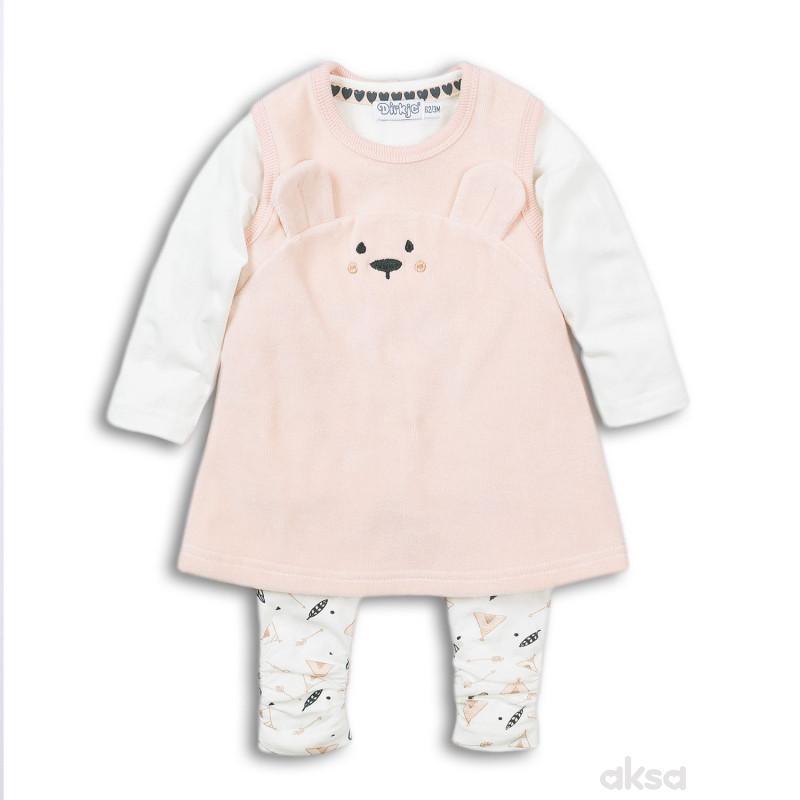 Dirkje komplet3/1(majica,haljina,helanke)djevojčice