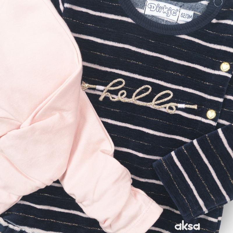 Dirkje komplet 2/1 (haljina, helanke), devojčice-1-86 1-86