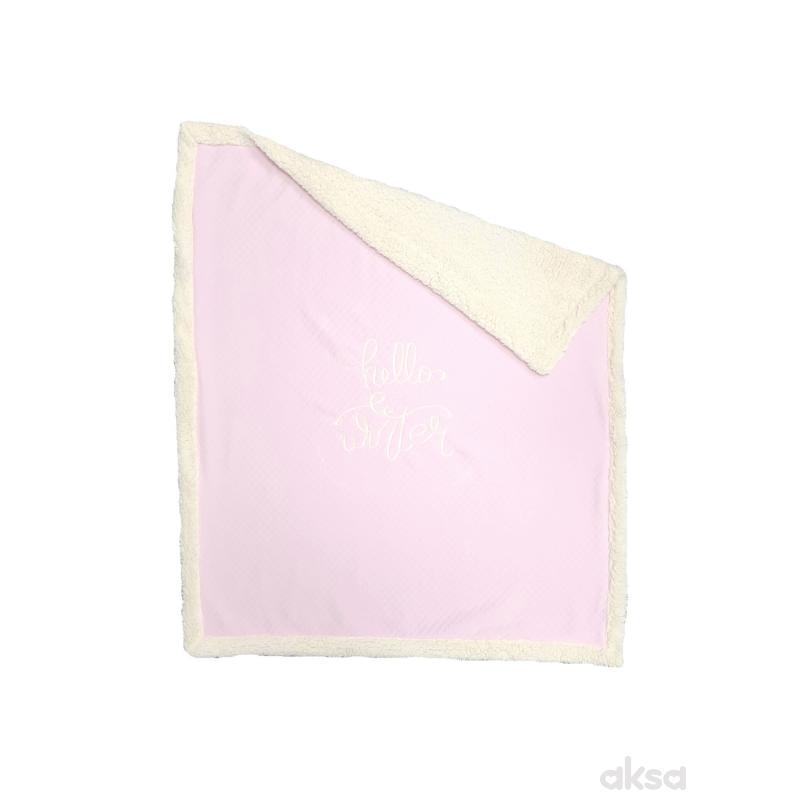 Baby Textil prekrivač Pepito,pliš-ROZE  3-ROZE